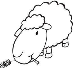 Cute Sheep Doodle Vector Illustration Art