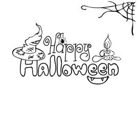 "Halloween card ""Happy Halloween"""