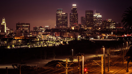 Downtown Los Angeles by night