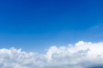 背景用 空と雲 青空