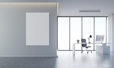 Gray office interior