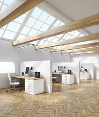 Accounting company office in attic