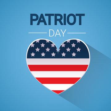 United States Flag Heart Shape National USA