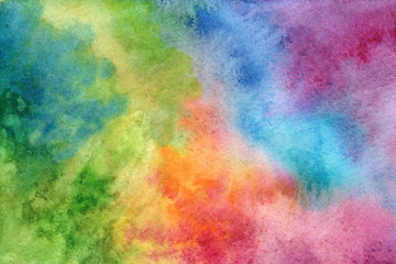 Multicolored background in watercolor