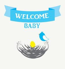 baby shower bird nest