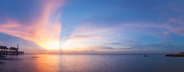Nice sunset on beach