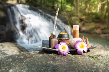 Spa and aroma tools with the beautiful refresh nature