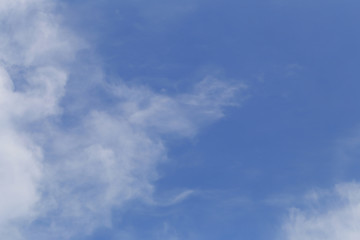 Cloud on blue sky in the daytime of Bright weather.