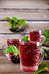 Transparent red drink