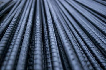 Steel Rod.Steel Bar.Iron Wire.Closeup of Steel Rod.