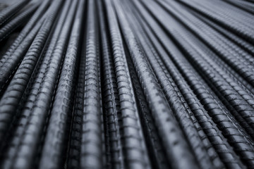 Closeup of Steel Rod.Steel Rod.Steel Bar.Iron Wire.