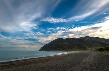 Evening at Peketa Beach, Kaikoura, South Island of New Zealand