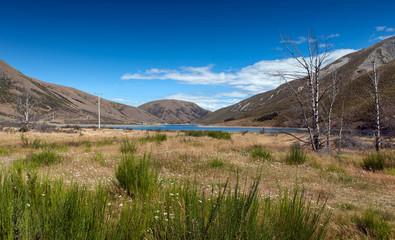 Lake Lyndon, on the Arthurs Pass, Southern Alps, South Island of New Zealand