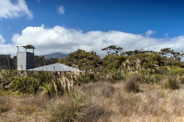 Observatory tower at Tauparikaka Marine Reserve, Haast, New Zealand
