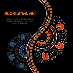 Aboriginal art vector Banner
