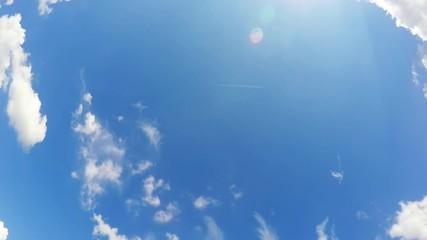 Fotobehang - a cloudscape in time lapse