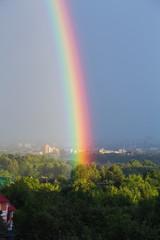Rainbow on the city