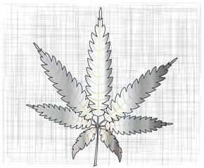 Metal Cannabis Leaf