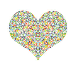 Vector abstract color pattern heart