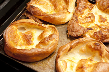 Large golden Yorkshire puddings