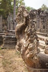 Naga in the Bayon Temple, Angkor, Cambodia