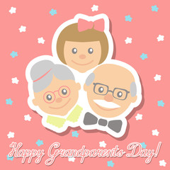 Vector drawing with congratulation inscription day grandparents