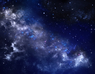 deep space, abstract starry background