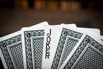 Gambling image, Joker playing card