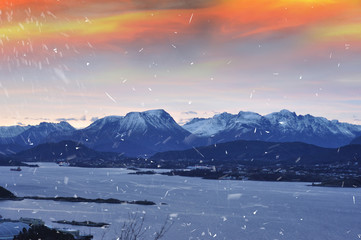 Winter mountains in Norway - Alesund