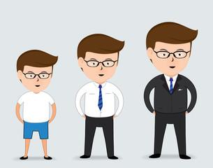 Business man cartoon ,vector 10, Business concept
