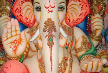 Closeup of Ganesha,Hindu God