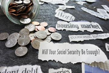 Social Security newspaper headlines