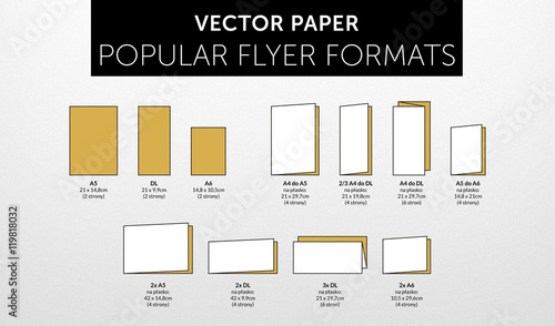 internetional paper flyer formats folds vol 2 stock image and