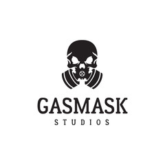 Gas mask and skull. Fighter logo. Excellent logo for a game.