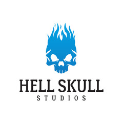 Fire skull logo.