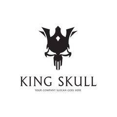 King skull. King and crown.