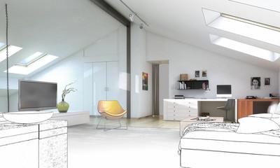 Dachwohnung (Planung)