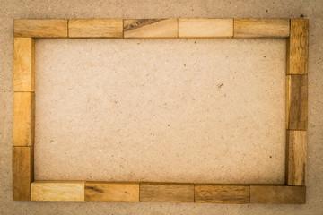 Board game, wooden block