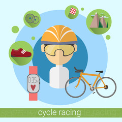 Cycle Racing Man Sportsman Icon