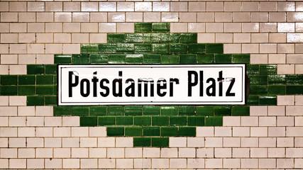 Potsdamer Platz sign