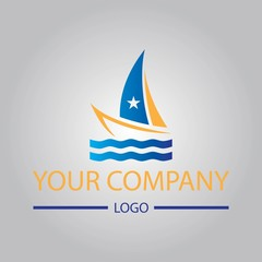 yatching boat vector logo