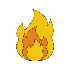 fire icon vector. Flat style. Cartoon style. Military symbol for web and mobile.