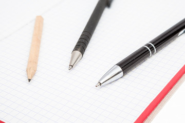 pencil and a notebook