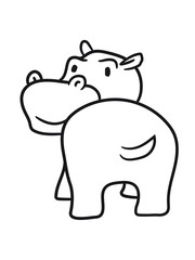 funny comic dick happy cartoon sweet little cute baby hippopotamus child