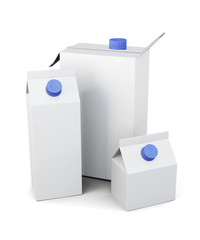 Packaging for juice milk or of different sizes.