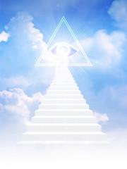Jacob ladder leads to freemason symbol