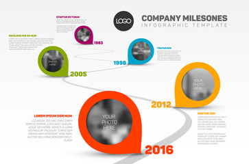 Infographic Timeline Template with pointers