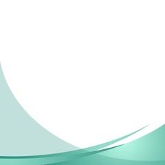 Stylish Teal Wave Background