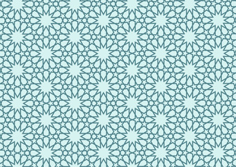 Osmsnlı motifi (turkuaz arka fon)