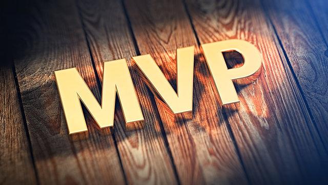 Acronym MVP on wood planks